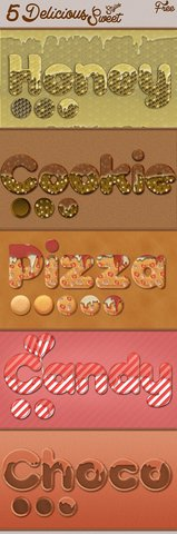 5 Delicious Sweet Photoshop Styles